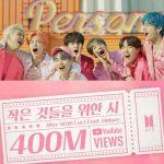 「防弾少年団」、「Boy With Luv」MV再生回数4億回突破…通算9作目で韓国歌手最多