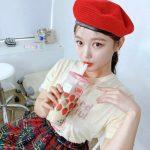 <トレンドブログ>女優キム・ユジョンが日に日に可愛くなっていく!?ベレー帽×タピオカが超キュート!