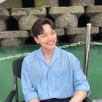 ヨ・ジング、「ホテルデルーナ」撮影現場で爽やかなほほ笑み