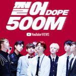 「防弾少年団」、「DOPE」MVが再生回数5億回突破=韓国最多記録を自ら更新