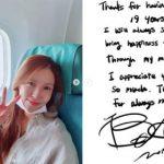 BoA、デビュー19周年を迎えファンに直筆の手紙「本当にありがとう」