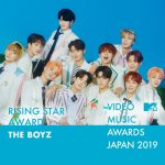 MTV VMAJ 2019受賞発表!THE BOYZが「Rising Star Award」受賞決定!
