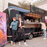 """FTISLANDホンギ&ジェジン、コーヒーカーの前でツーショット…""""おいしくいただきます"""""""