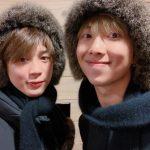 防弾少年団(BTS)ジミン&RM、カップル帽子とマフラーでキュートさUP…仲よしショット公開
