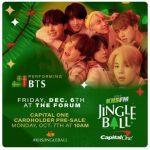 防弾少年団(BTS)、12月6日、米「ジングルボール」ステージ出演決定…華やかな年末公演の予告