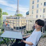 """防弾少年団(BTS)ジミン、ゆとりある笑顔の近況公開…""""振り返ってみるほどに素敵な時間"""""""