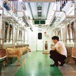 ジコ(ZICO)、地下鉄の中でヤギとともに夢幻的な雰囲気でファンにあいさつ