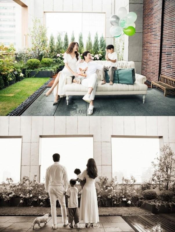 金孝珍刘智泰夫妇在Instagram公开与两个儿子和爱犬的幸福全家福
