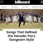 """PSYの「江南スタイル」、ビルボード「10年トップ100曲」に、""""世界に韓国を知らせた功績"""""""