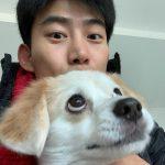 """【トピック】「2PM」テギョン、愛犬エディとの""""可愛い2ショット""""が話題"""
