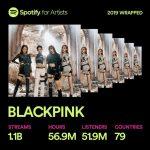 BLACKPINK、Spotify11億回ストリーミング達成…K-POPガールズグループ最高。今年リスナー194%増加