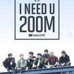 「防弾少年団」、「I NEED U」MVが再生回数2億回突破! 通算14番目