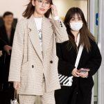 「PHOTO@金浦」IZ*ONE宮脇咲良&矢吹奈子、日本での日程を終えて韓国入国
