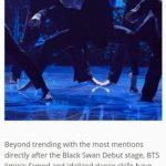防弾少年団(BTS)ジミン、新曲「Black Swan」ステージでアメリカを含む34カ国のトレンドを掌握
