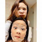 <トレンドブログ>SHIHO&サランちゃん、マスクパックでも隠せない美貌DNA^^