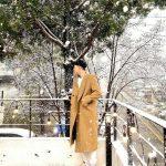<トレンドブログ>パク・ソジュン、降りしきる雪を見物…長身の優越なスタイルで立っているだけでグラビア
