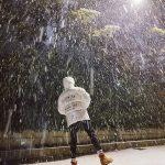 SUHO(EXO)、雪を全身で感じて冬満喫