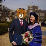 チョン・ヘビン、卒業式出席…博士になった医師の夫を自慢
