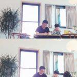 """<トレンドブログ>女優ソ・ユジン、自宅での夫ペク・ジョンウォンの""""真剣な姿""""を公開!~子どもたちと折り紙~"""