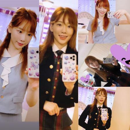 テヨン(少女時代)、SNSで制服姿を公開…30代とは思えぬ童顔との着こなし感でファンも虜に