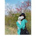 """<トレンドブログ>「少女時代」ユナ、伴侶犬とお花見""""日常がグラビア"""""""