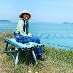 """<トレンドブログ>「三食ごはん」撮影中?…コン・ヒョジン、海辺で""""明るい笑顔"""""""