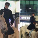 """<トレンドブログ>""""運動しに出てきて幸運にもイ・ミンホを目撃""""白馬に乗って海雲台に現れたイ・ミンホ!!"""