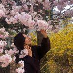 キム・ヒエ、満開な桜の下から近況報告「『夫婦の世界』撮影中」…年齢を感じさせない美しさ