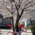 ユイ(元AFTERSCHOOL)、桜の下で美貌満開 可愛い清純ワンピースを着たショット