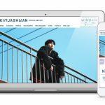 キム・ジェファン 公式サイトをオープン