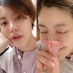 女優イ・ユンジ、第2子出産後の近況「一旦ちょっとだけ寝よう」から「赤ちゃんの足の臭いで一息」
