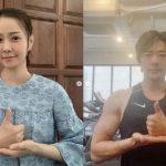 クォン・サンウ&ソン・テヨン夫妻、仲良く「おかげさまチャレンジ」に参加