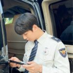 俳優ユン・シユン、こんなカッコいい警官見たことある?…ドラマ「トレイン」撮影現場公開