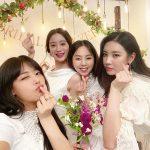 """元「Wonder Girls」の4メンバーが集合! ヘリムの""""ブライダルシャワー""""で見せた変わらぬ絆"""