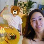 女優チョン・ヘビン、夫の誕生日パーティー2次ショット…お祝いコメントに満足