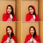<トレンドブログ>女優ハン・ジミン、清らかさあふれる優越な美貌…真っ赤なフードがよく似合う