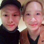 「SHINee」のキー、本日(7/18)テミンが誕生日を迎え記念の顔交換ツーショットを公開