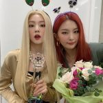 「Red Velvet」アイリーン&スルギ、「ミュージックバンク」1位をお祝い