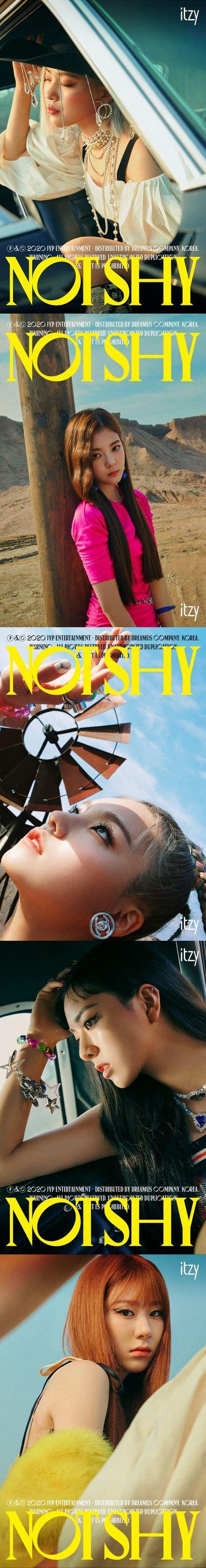 「ITZY」、「Not Shy」個別ティーザーオープン…太陽より熱い存在感と非現実的な美貌