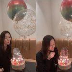 女優ソン・テヨン、ケーキとバルーンで41歳の誕生日を祝福