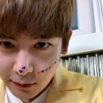「2PM」ニックン、イケメンな顔にハートのシール♥