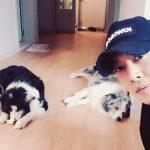 キム・ヒョンジュン(リダ)、愛犬と共に旧盆のあいさつ