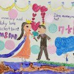 <トレンドブログ>俳優チソン♥イ・ボヨン、7歳の娘が描いた結婚記念日の絵...すでに英語が上手