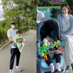 女優チャン・シニョン、旦那カン・ギョンジュンと家族お出かけで次男を抱えた美脚の後ろ姿に感嘆