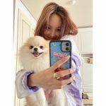 「TWICE」ナヨン、今日も爽やかさいっぱい…愛犬と共に♥