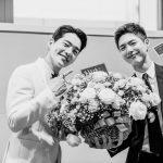 俳優パク・ボゴム×キム・ゴヌ、イケメンの隣にまたイケメン!!…眩しい笑顔