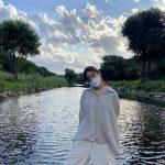 女優カン・ソラ、余裕のある日常であいさつ、新妻の美しさに視線釘付け