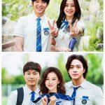 イ・ジュンギ、ドラマ「悪の花」の出演者たちと学生服で記念撮影…さわやかな笑顔