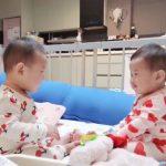"""<トレンドブログ>チェ・ミンファン(FTISLAND)の妻ユルヒ(元LABOUM)、双子ちゃんを瞬間捕捉""""お互いが珍しくておもしろい双子ちゃんたち"""""""