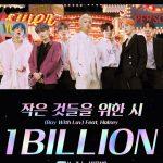 「BTS(防弾少年団)」、「Boy With Luv(Feat. Halsey)」MV再生回数10億回突破…「DNA」に続き2作目